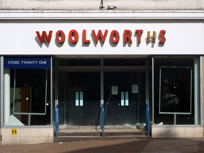 Derelict Woolworths, Bolton 2010