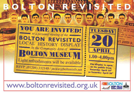 A6 Invitation - Bolton Revisited Local History Display